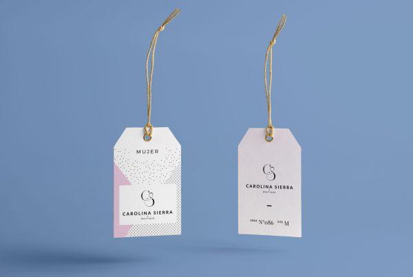 Diseño Branding La Paralela Agencia Creativa moda etiquetas Carolina Sierra